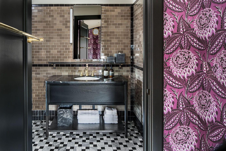 bathroom of Premier Suite at Proper San Francisco