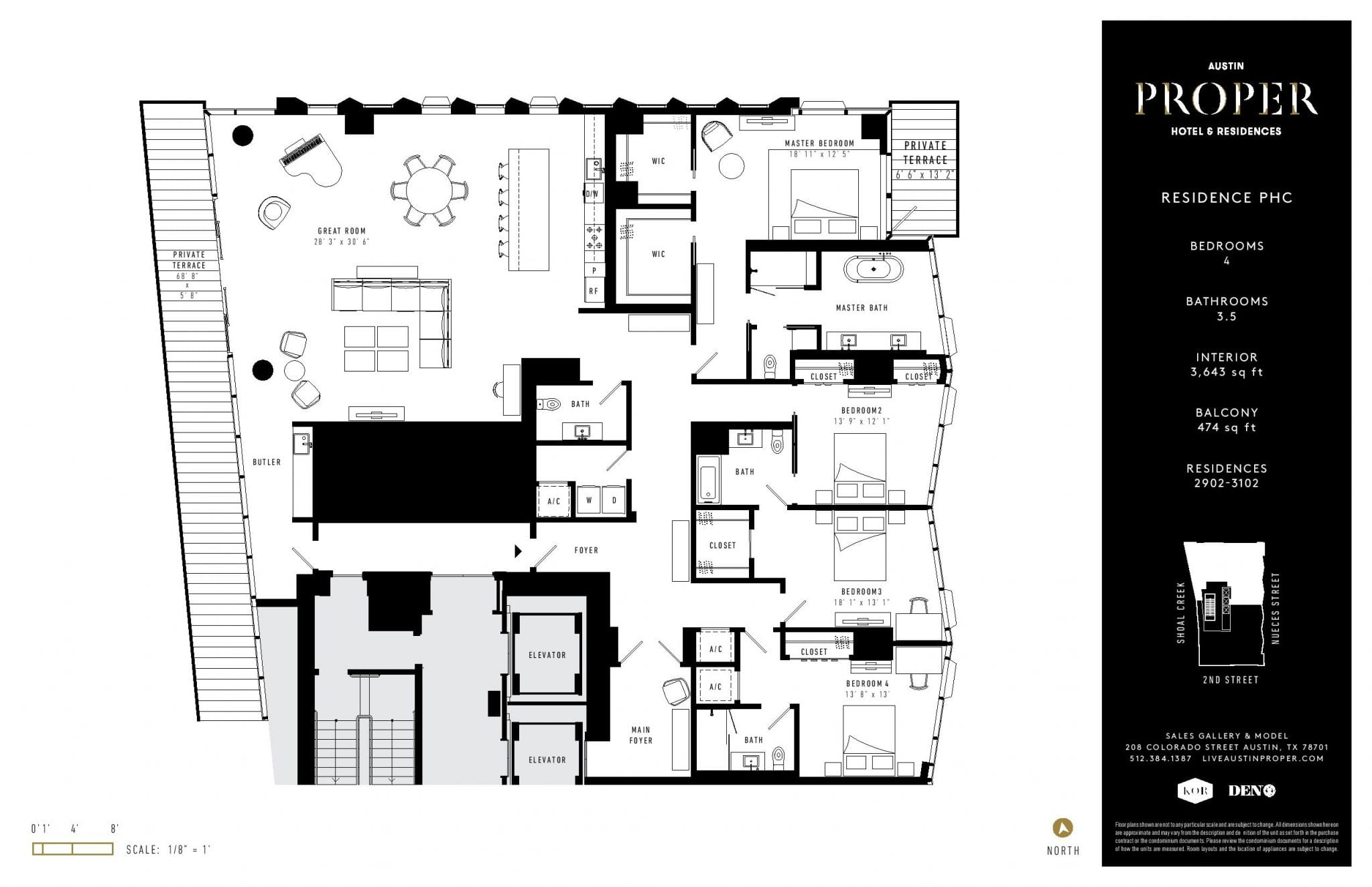 Condo Floor Plans, Downtown Austin, TX