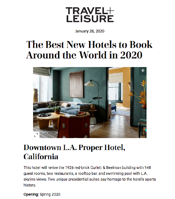 Downtown L.A. Proper Hotel Image