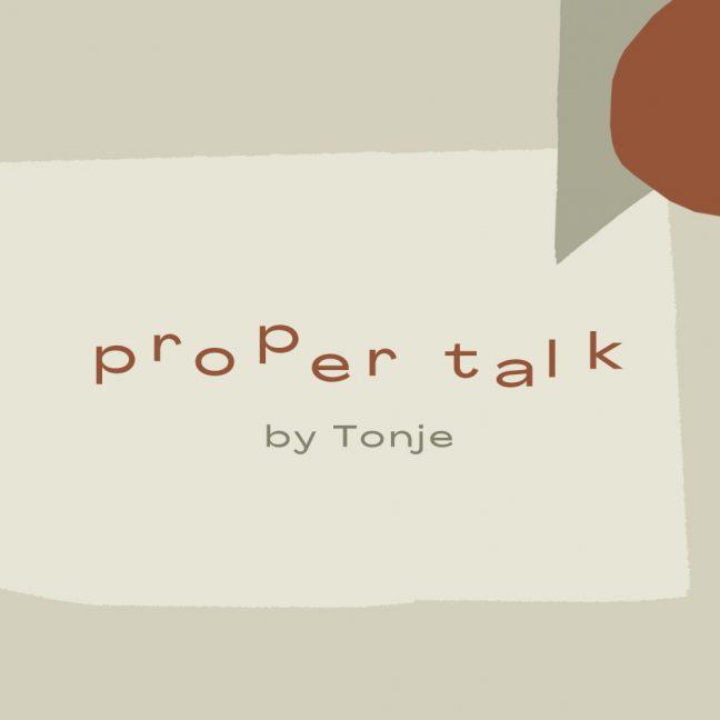 Proper talk by Tonje