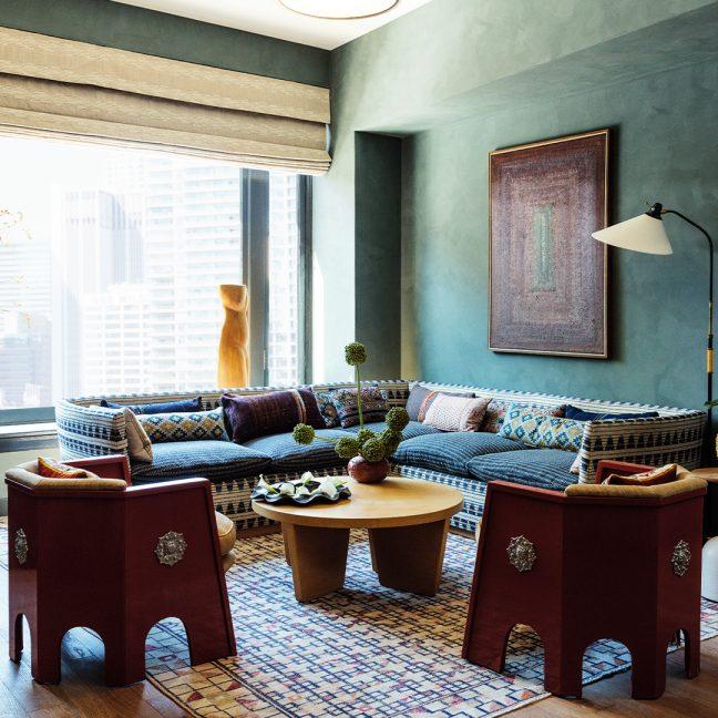 downtown la proper hotel suite featuring living room